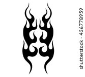 flame tattoo tribal vector... | Shutterstock .eps vector #436778959