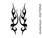 flame tattoo tribal vector... | Shutterstock .eps vector #436778965