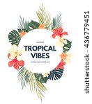 bright hawaiian design with... | Shutterstock .eps vector #436779451