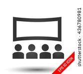 movie icon. flat illustration...   Shutterstock .eps vector #436780981