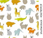 cute baby pattern with cartoon... | Shutterstock .eps vector #436785919