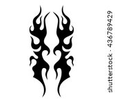 flame tattoo tribal vector... | Shutterstock .eps vector #436789429