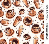 coffee background. vector | Shutterstock .eps vector #436791421