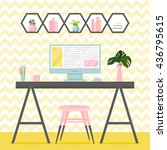 vector illustration with home...   Shutterstock .eps vector #436795615