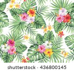 tropical seamless pattern with... | Shutterstock .eps vector #436800145