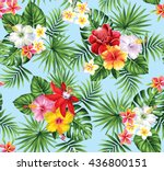 tropical seamless pattern with... | Shutterstock .eps vector #436800151