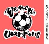 soccer ball grunge graffiti...   Shutterstock .eps vector #436802725