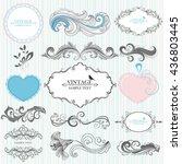 set of hand drawing... | Shutterstock .eps vector #436803445