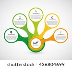 abstract infographic in the... | Shutterstock .eps vector #436804699