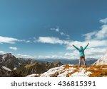 sport women on the top of... | Shutterstock . vector #436815391