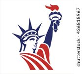 liberty american flag | Shutterstock .eps vector #436818967