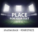 stadium lights. three... | Shutterstock .eps vector #436819621