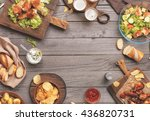 outdoors food concept. on the... | Shutterstock . vector #436820731