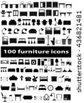 furniture icon set | Shutterstock .eps vector #436821481