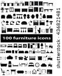 furniture icon set | Shutterstock .eps vector #436821481