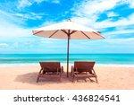 beautiful maldive beach. beach... | Shutterstock . vector #436824541