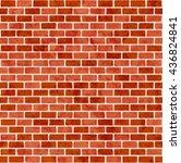 brick wall seamless pattern... | Shutterstock .eps vector #436824841