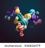 multicolored decorative balls.... | Shutterstock .eps vector #436826479