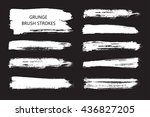 hand drawn brushes.grunge brush ... | Shutterstock .eps vector #436827205