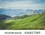 summer mountains green grass... | Shutterstock . vector #436827385
