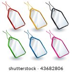colorized tags in the one set | Shutterstock .eps vector #43682806