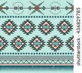 seamless ethnic pattern. aztec  ... | Shutterstock .eps vector #436829785