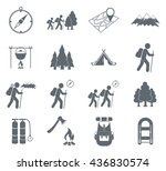 set of hiking icons...   Shutterstock .eps vector #436830574