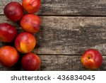 Nectarines Composition Close U...