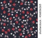 seamless sweet strawberry... | Shutterstock .eps vector #436836265