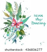 beautiful floral background... | Shutterstock . vector #436836277