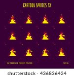 fire sprites or animation... | Shutterstock .eps vector #436836424