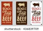beef stickers set. | Shutterstock .eps vector #436839709