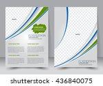 abstract flyer design...   Shutterstock .eps vector #436840075