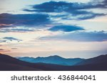 majestic sunrise in montain... | Shutterstock . vector #436844041