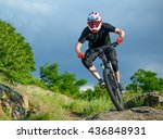 professional cyclist riding the ... | Shutterstock . vector #436848931