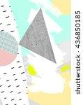 geometric art print  abstract...   Shutterstock . vector #436850185