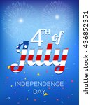 independence day  vector... | Shutterstock .eps vector #436852351