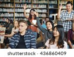 studying library learning... | Shutterstock . vector #436860409