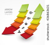 set of arrows layers up and... | Shutterstock .eps vector #436863631
