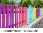 Bright And Multi Colorful Fence ...