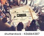 mindset belief discipline...   Shutterstock . vector #436864387