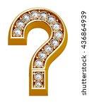 luxury golden alphabet with...   Shutterstock . vector #436864939