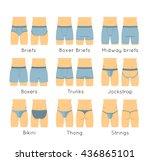 male underwear types flat... | Shutterstock .eps vector #436865101