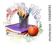 school. | Shutterstock . vector #436868581