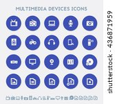 multimedia devices icon set....