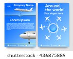 creative two page brochure ... | Shutterstock .eps vector #436875889
