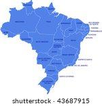 a map as a vector illustration... | Shutterstock .eps vector #43687915