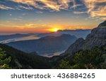 mountain sundown in the kotor... | Shutterstock . vector #436884265