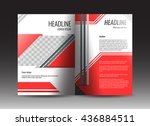 corporate brochure template... | Shutterstock .eps vector #436884511