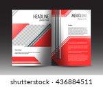 corporate brochure template...   Shutterstock .eps vector #436884511